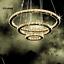 Modern-LED-Crystal-Round-Ring-Chandelier-Pendant-Lamp-Ceiling-Lights-Adjustable miniature 15