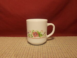 Image is loading Arcopal-Dinnerware-Victorian-Charm-Pattern-Mug-3-1- & Arcopal Dinnerware Victorian Charm Pattern Mug 3 1/2