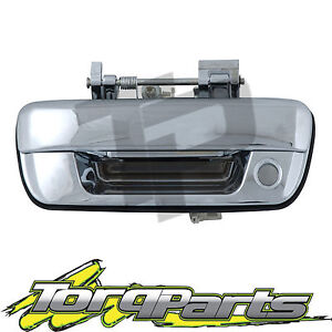 TAILGATE-HANDLE-CHROME-WITH-KEY-HOLE-SUIT-HOLDEN-RODEO-RA-03-06-TAIL-GATE