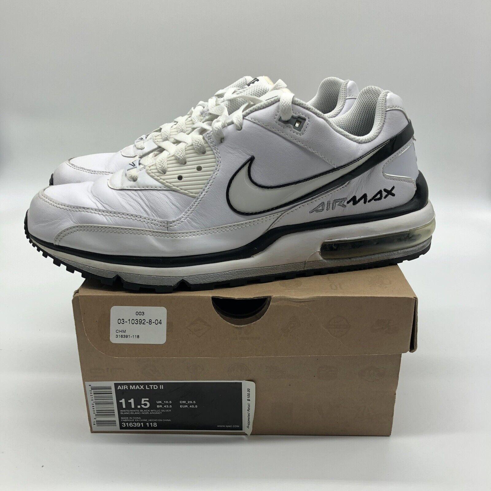 Nike Air Max Ltd li Talia White Black Silver Size 11.5 316391-118