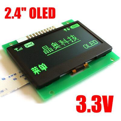 2.4''  3.3V 128X64 OLED LCD Screen  display module SPI SSD1309 51 STM32 Green
