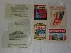 Baxter Lane Lot 4 Transfer Decal Stickers Virginia,Washington DC, Delaware, USA