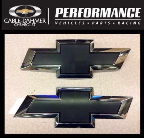 2014-2018 Chevy Siverado Black Bowtie Grille /& Tailgate OEM Emblems