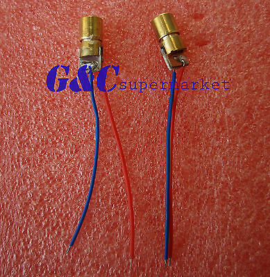10pcs 3V red laser head laser diode  copper tube 650NM 6MM M57