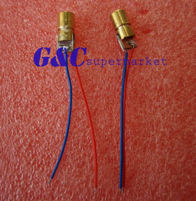 10pcs 3V red laser head laser diode  copper tube 650NM 6MM M57
