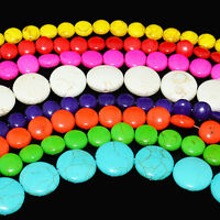 """Coin Rondelle Beads Chalk Turquoise Dyed/Stabilized Mix Beads 16"""""""