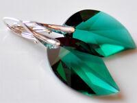 **LEAF** (BLATT) Ohrringe mit Swarovski ! 28 mm TOP Farbe ! Silber 925 Geschenk