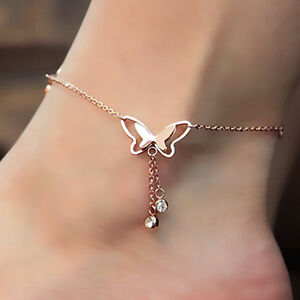 bracelet products sexy leg anklet gold product adjustable simple leaf image chain foot ankle