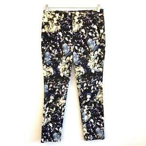 Worth-New-York-Floral-Courduroy-Pants-Size-6-Womens-EUC-Straight-Leg