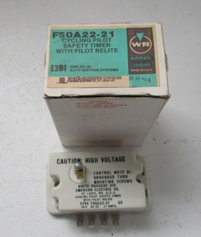 White Rogers  F50A22-4 Cycling Pilot Saftey Timer With Pilot Relite