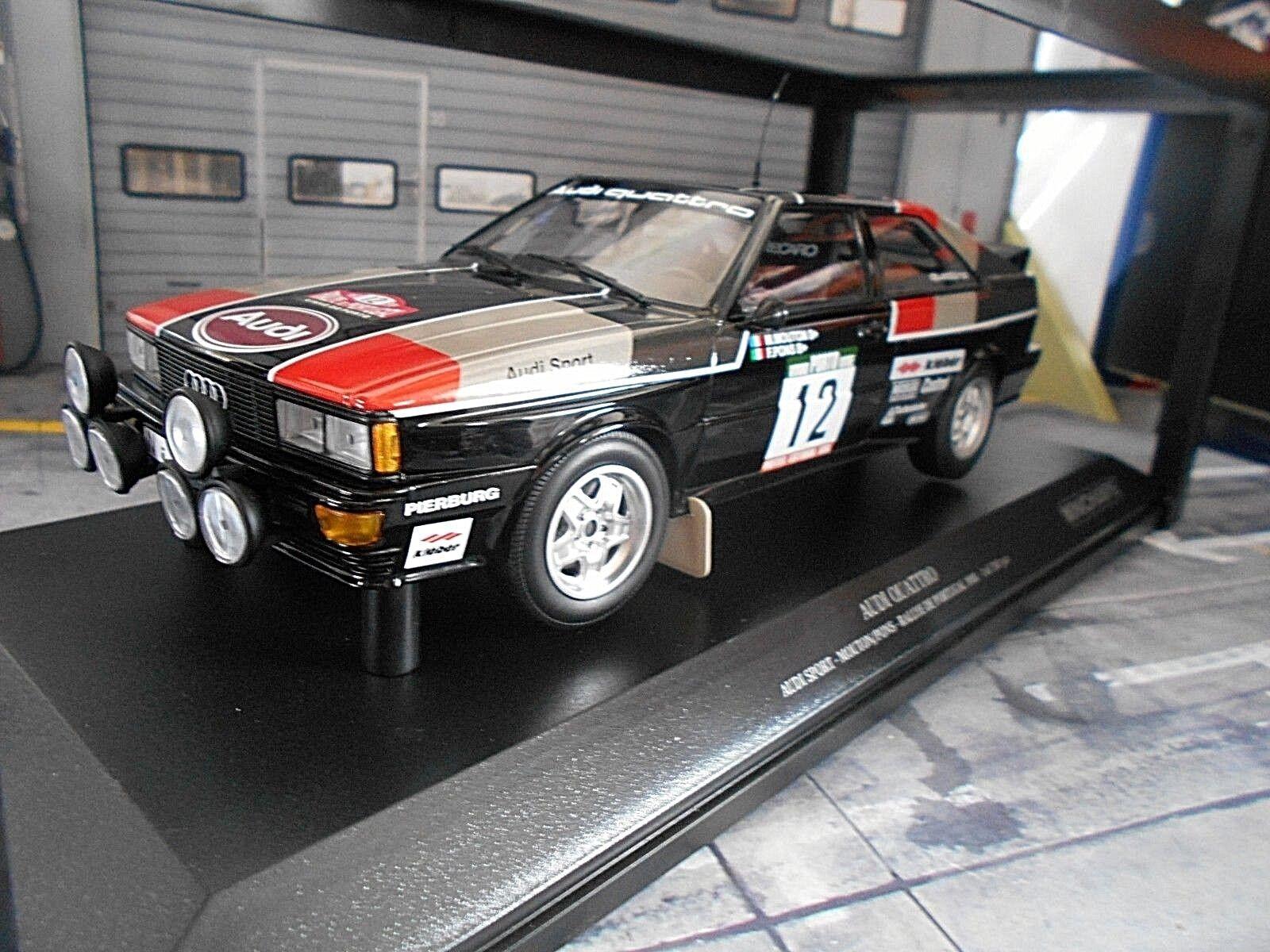 AUDI QUATTRO RALLYE taille 4 Portugal TAP 1981 #12 Mouton Pons Nouveau MINICHAMPS 1:18 | Online Shop