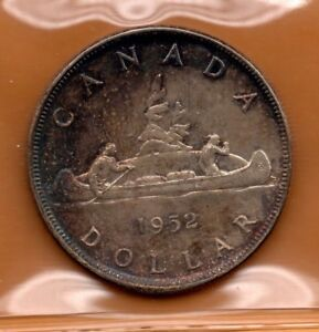 ICCS-MS-63-MS63-1952-1-Silver-Dollar-Voyageur-WL-Waterline-Toned-Toning