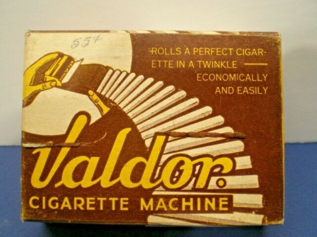 VINTAGE VALDOR CIGARETTE ROLLING MACHINE-- pre 1959