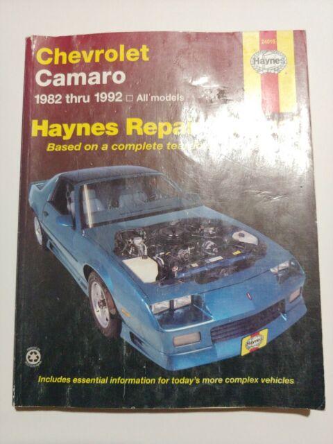 Haynes  24016 Chevrolet Camaro 1982