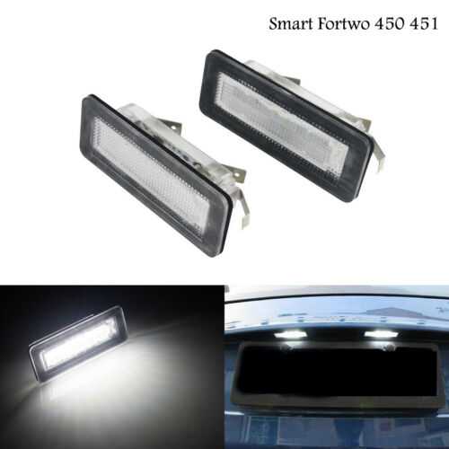 2x Error Free LED LICENSE number PLATE LIGHT For Smart W451 fortwo 2007-2015