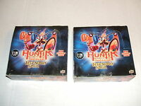 Two Wax Box Upper Deck Huntik Trading Card Game Tcg Legendary Saga 48 Packs