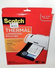 Scotch Thermal Laminating Pouches 85x11 65 Pouches Open Box