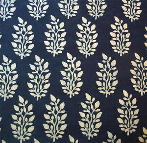 Indigo hand blockprinted fabric 2m 25