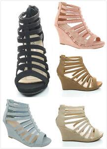 New Women's Fashion Gladiator Strappy High Heel Platform Wedge Sandals Shoes