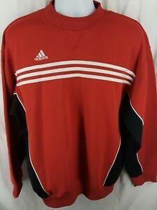 Vintage 1999 Adidas Pullover Top Sweatshirt Mens Large Red Black ...