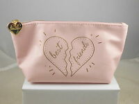 Bare Minerals Pink Best Friends Faux Leather Zip Top Cosmetic Makeup Bag