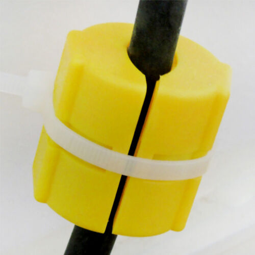 2Pcs Magnetic Fuel Saver fit for Vehicle Gas Universal Reduce Emission Yellow