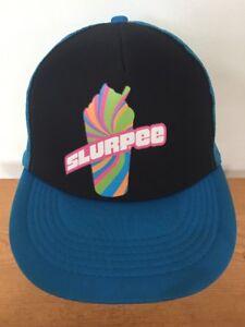 996556cde83e2c Details about 7-11 Rainbow Slurpee Nerd Black Teal Adjustable Snap Back Hipster  Trucker Hat