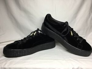 new style 2b1a9 7789f Details about Men's Puma X Rihanna Fenty Black Velvet Creeper Size 11