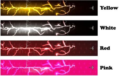 Eau Blanche Tir à L/'Arc Lightning Storm 1 ARROW Wraps 15 PC Pack Choisir Longueur Largeur