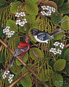 Hand-painting-Balinese-Sparrow-Birds-307