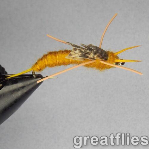 GOLDEN - Kaufmann/'s Stonefly Nymph 1 dozen Rubber Legs 12 Bead Head