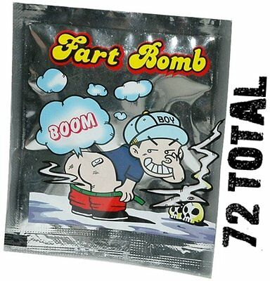 6 Stink Bombs Joke Prank Nasty Smelly Gag Fart Bomb Bags Odor Bag FREE SHIP!