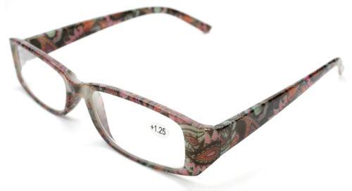 New Womens Ladies Readers Reading Burnout Tie Dye Rose Leaf Leaves Style Glasses