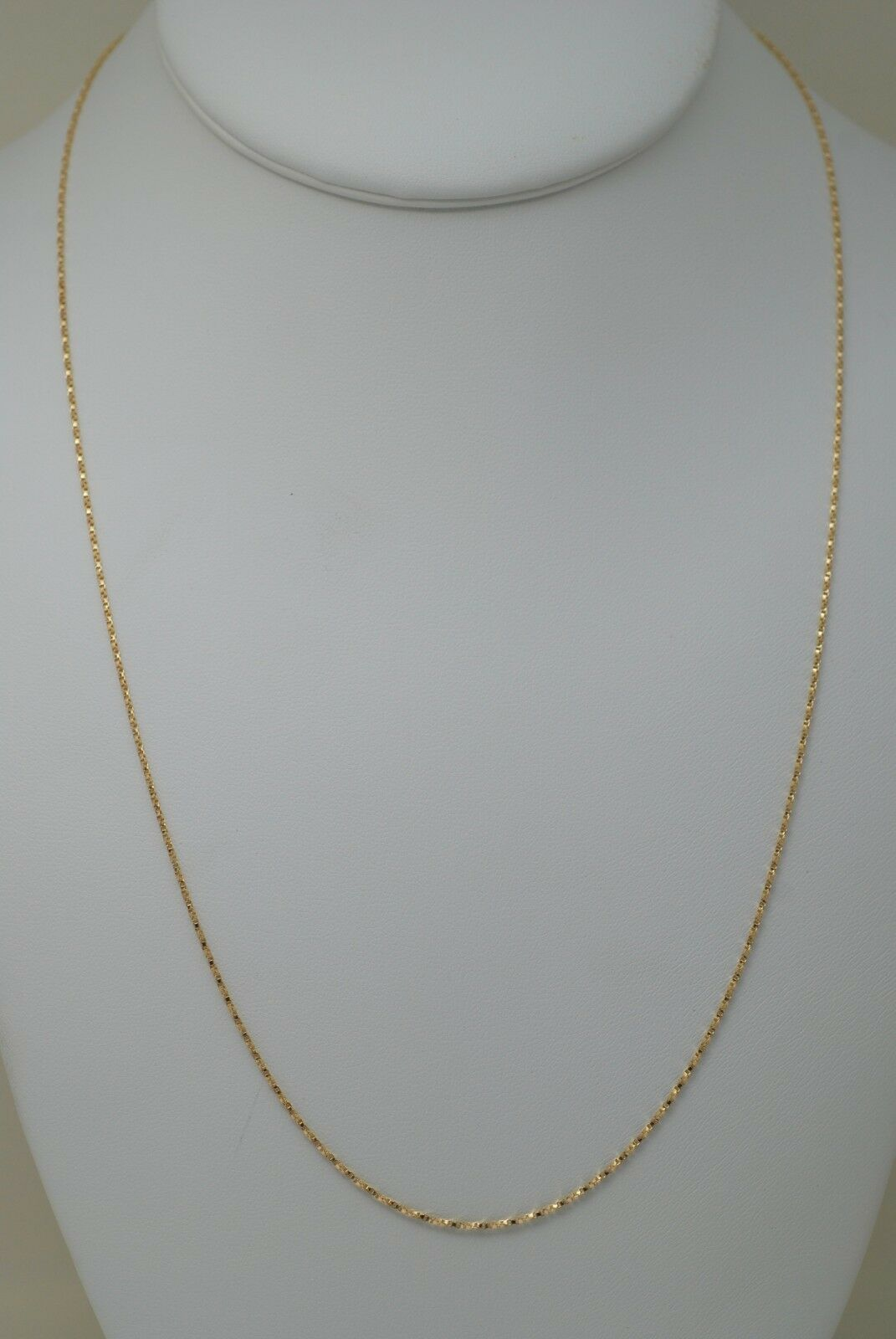 10K gold 22 inches twisted box chain