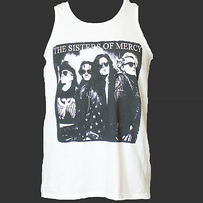MENS FITTED TANK TOP SISTERS OF MERCY FLOODLANDS GOTHIC ROCK POST PUNK S-5XL