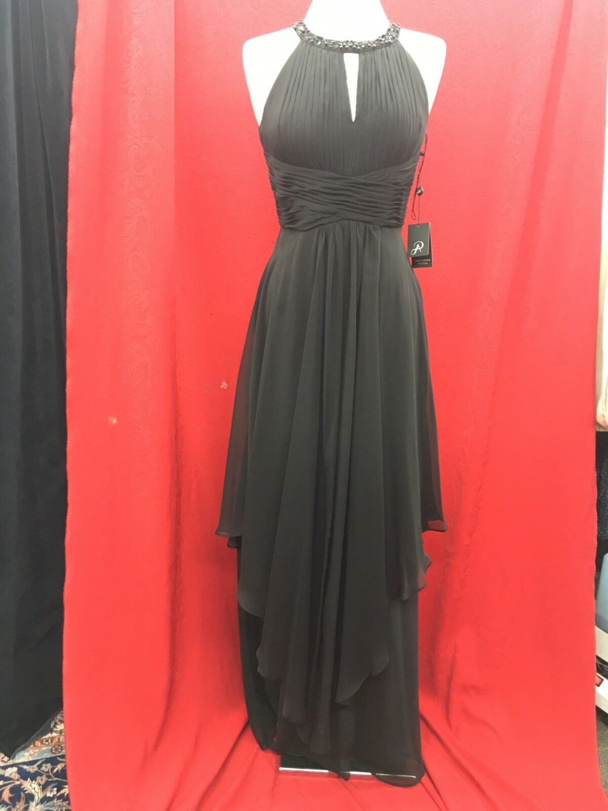 Adrianna Papell Abendkleid Schwarz Einzelhandel 6   Länge 64    Neu mit Etikett | Clearance Sale  | Hohe Sicherheit  | Online-Exportgeschäft