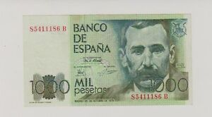 Spagna-Spain-1-000-1000-pesetas-1979-Spl-XF-Pick-158-lotto-93