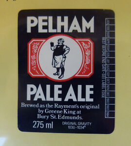 VINTAGE-BRITISH-BEER-LABEL-GREENE-KING-BREWERY-PELHAM-PALE-ALE-275-ML