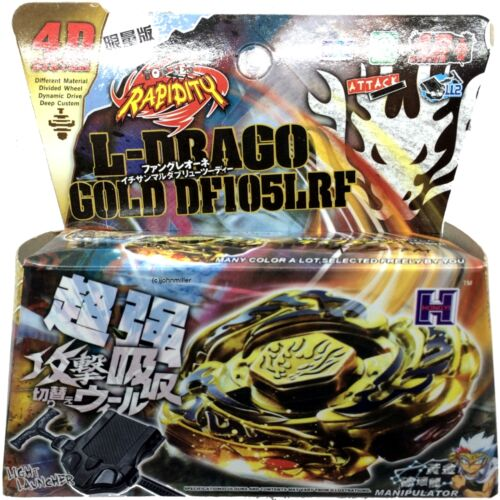 Beyblade GOLD L-Drago Destroy Destructor Armored w// Launcher in RETAIL PACKAGING
