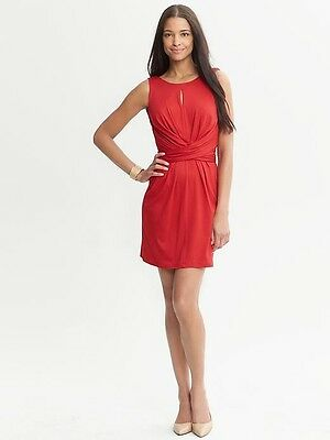 Banana Republic Issa Collection Red Wrap Tie Dress-Red element, Size 8 - $130.00