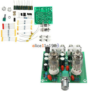 Details about AC 12V 6J1 Valve Pre-amp Tube PreAmplifier Board DIY KIT  Headphone Buffer +Case