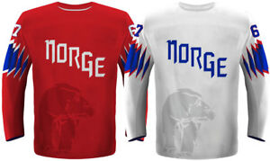 3684d7bc6 Image is loading 2018-Team-Norway-Ice-Hockey-Jersey-White-Red-