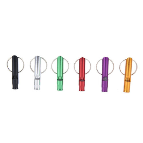 Metall Pfeife Anhänger mit Schlüsselbund für ÜberlebenNotfall Mini Größe Pfeif·B