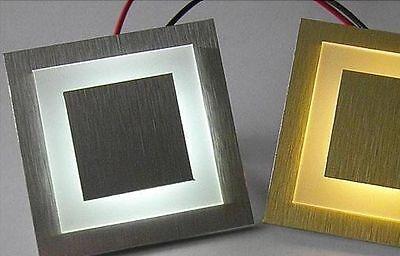Led Wand Treppenbeleuchtung 1,8 W 12 V Ac Kalt Weiß. Typ : Cube Chrom . Neu !!!