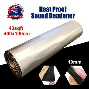 10MM 4M x 1M Firewall Sound Deadener Car Heat Shield Insulation Deadening Mat O