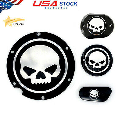 Skull Chain Inspection Cover Guard For Harley Sportster Iron XL 1200 883 48 72 Roadster Nightster