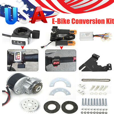 24V Electric Conversion Kit For Common Bike Left Chain Drive Custom 250W US New