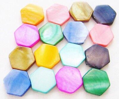 Perlmutt Scheiben 25mm verschiedene Farben 5 Stück SERAJOSY