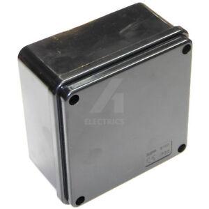 Outdoor Junction Box 100mm X 50mm Black Weatherproof Garden Lighting Cctv Cable Ebay
