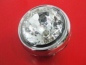 YAMAHA-CHAPPY-LB50-LB80-HEADLIGHT-CHROME-CASE-DIAMOND-amp-6V-BULB-BI440